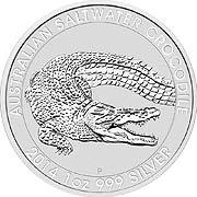 Thumb Salzwasser Krokodil (Perth) Silbermünze