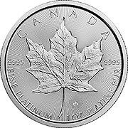 Thumb Maple Leaf  Platinmünze