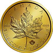 Thumb Maple Leaf  Goldmünze