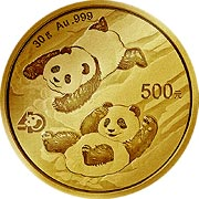 Thumb China Panda Goldmünze