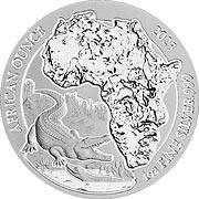 Thumb Ruanda Silbermünze
