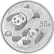 Thumb China Panda Silbermünze