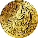 Queens Beasts Gold Red Dragon of Wales