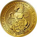 Queens Beasts Gold Unicorn of Scotland