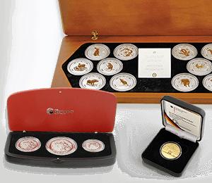 Münzboxen und Etuis