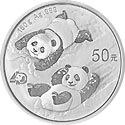 China Silber Panda