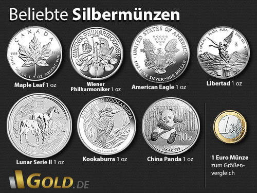 Silbermünzen kaufen ▷ Vergleiche Preise mit der Nr. 1 GOLD.DE