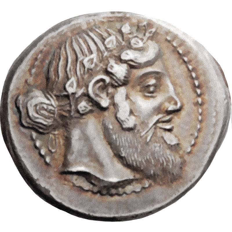 Naxos Silber Tetradrachme Silbermünze