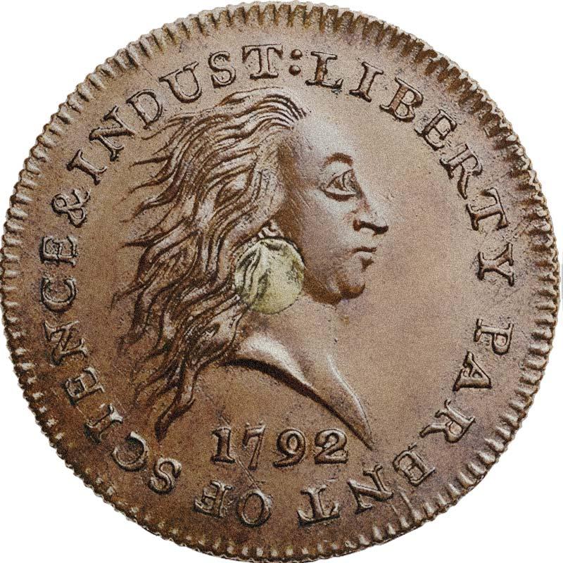 Silver Cent USA 1792 Silbermünze
