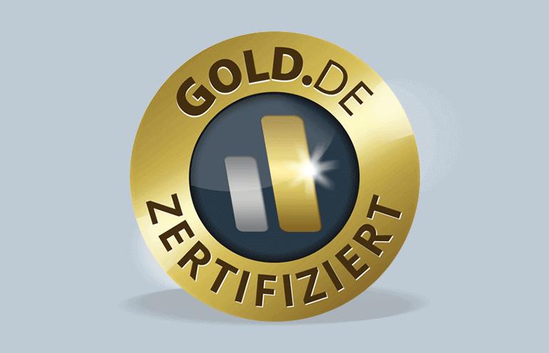 Sicher: Das GOLD.DE zertifiziert Siegel