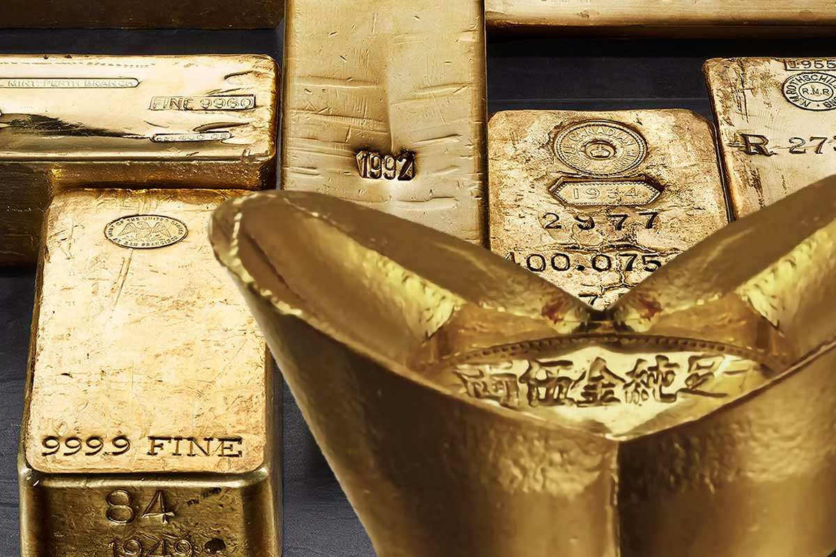 Historische Barren aus Gold & Silber