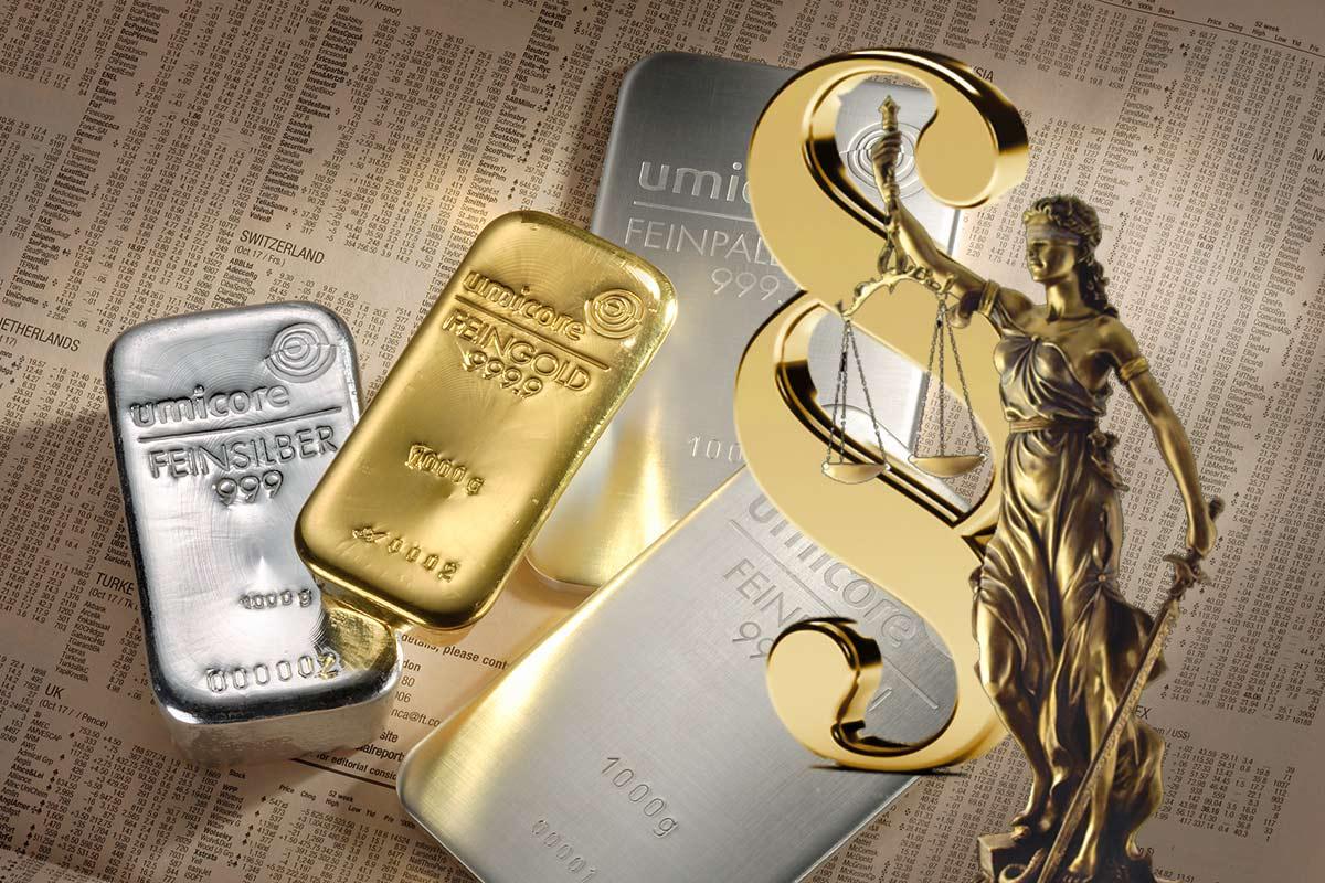 Steuer: Gold, Silber und andere Edelmetalle