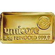 2,5 g Goldbarren