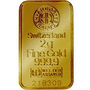2 g Goldbarren