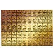 Tafelbarren aus Gold Fehler: