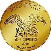 Andorra Eagle Goldmünze