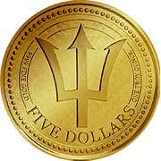Barbados Trident Goldmünze
