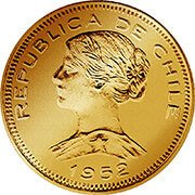 Chile Peso Goldmünze