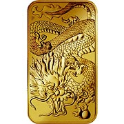 Dragon Rectangle Goldmünze