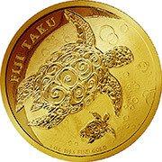 Fiji Taku Schildkröte Goldmünze