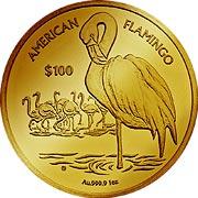 Flamingo Virgin Islands Goldmünze