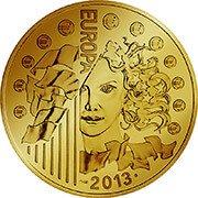 Frankreich Euro Goldmünze