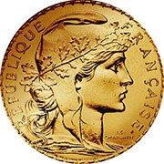 Frankreich Francs Goldmünze