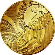 Frankreich Hahn Goldmünze