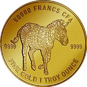 Mandala Tschad Goldmünze