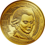 Mozart Coin Goldmünze