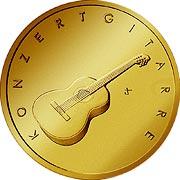 Musikinstrumente Goldmünze