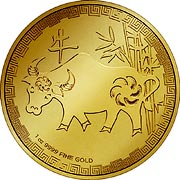 Niue Lunar Serie Goldmünze