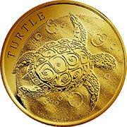 Niue Turtle Schildkröte Goldmünze