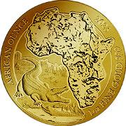 Ruanda Goldmünze