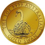 Schwan Goldmünze