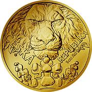 Tschechischer Löwe Goldmünze