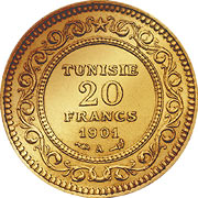 Tunesien Francs Goldmünze