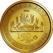 Voyageur Kanada Goldmünze