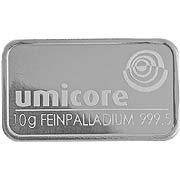 10 g Palladiumbarren Palladium