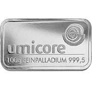 100 g Palladiumbarren Palladium