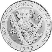 Koala Platinmünzen