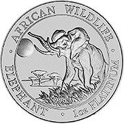 Somalia Elefant Platinmünzen