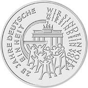 25 Euro Deutsche Einheit Silbermünze