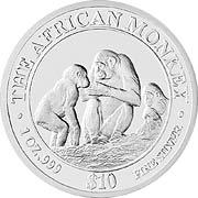 African Monkey Silbermünze