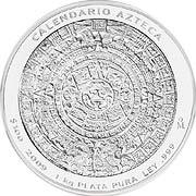Aztekenkalender Silbermünze
