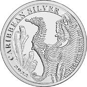 Barbados Seepferdchen Silbermünze
