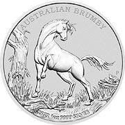 Australian Brumby Silbermünze
