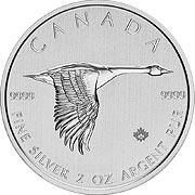 Canada Goose Silbermünze