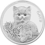 Cats Fiji Silbermünze