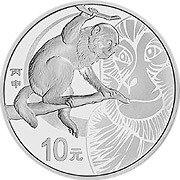 China Lunar Serie Silbermünze